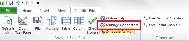 Analytics-Edge-Core-Addin-manage-connectors
