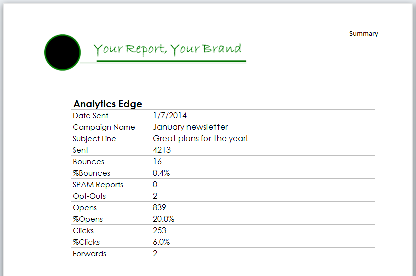 Branded Report Example 1