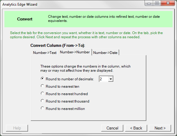 Convert | Analytics Edge Help