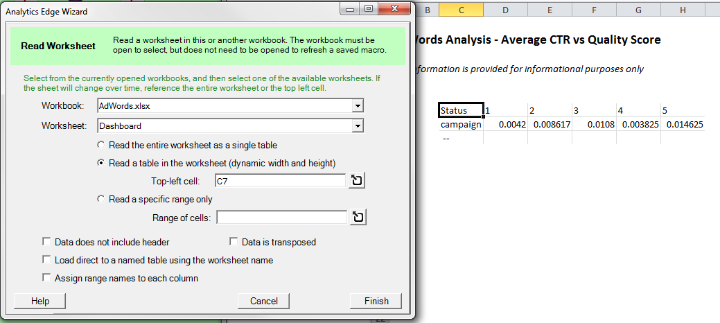 Using The Read Worksheet Function Analytics Edge Help. Worksheet. Name Worksheet Wizard At Clickcart.co