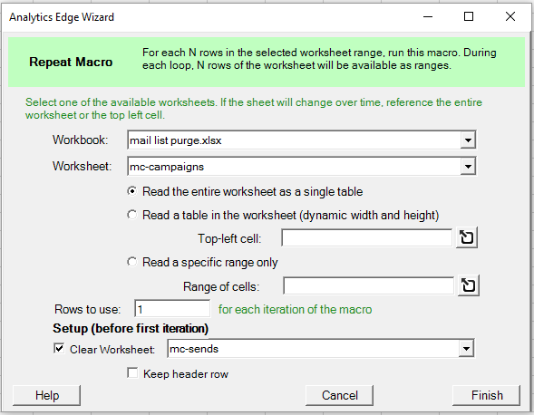 Using The Repeat Macro Function Analytics Edge Help. Worksheet. Worksheet Range Excel C At Mspartners.co
