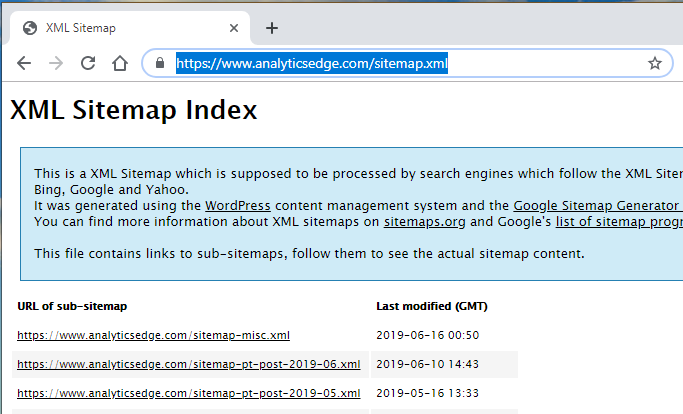 Reading Sitemaps to Get a Full Listing of Pages | Analytics