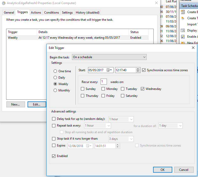 Manually Scheduling a Refresh | Analytics Edge Help